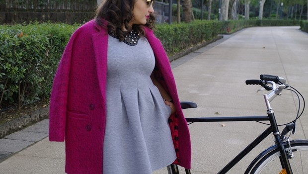 outfit_cappotto_rosa_bicicletta_the_colours_of_my_closet